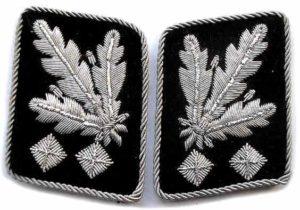 SS Obergruppenfuhrer collar tabs