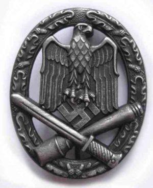 General Assault badge. WW2 German army combat badge.