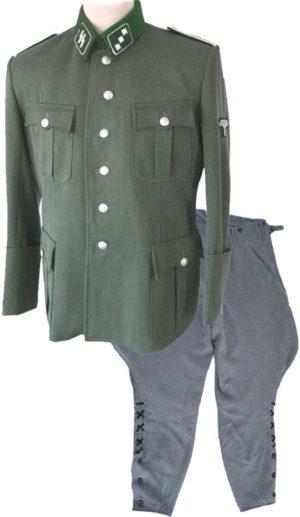SS officers uniform set