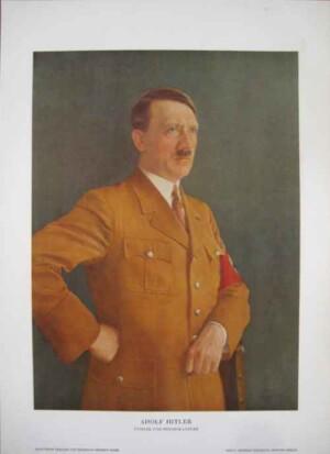 Hitler portrait poster