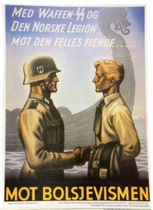 Mot Bolsjevismen Norwegian SS poster