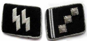 SS Obersturmfuhrer collar tabs