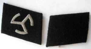 SS Langemarck enlisted mans collar tabs. Waffen SS volunteers insignia