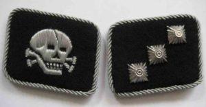 Totenkopf officers collar tabs
