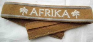 Afrika campaign enlisted mans cuff title