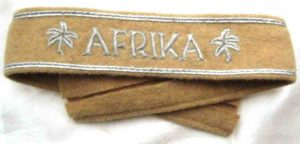 Afrika Korps campaign officers cuff title