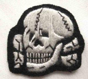 SS Totenkopf cap badge in cloth