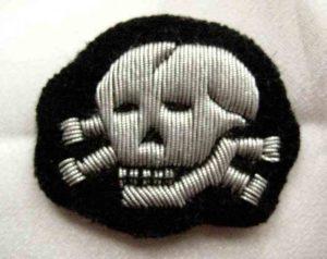 SS Totenkopf officers cap badge