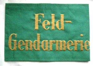 German field police (Feldgendarmerie) armband