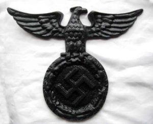 Nazi wall eagle in black