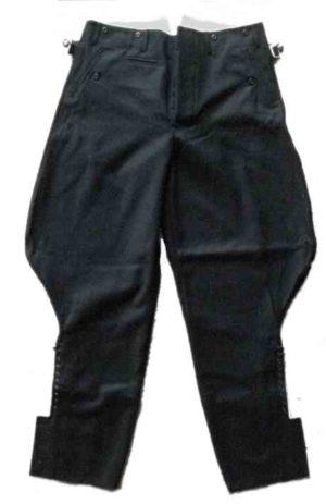 Black SS Service Breeches. German ss black uniform