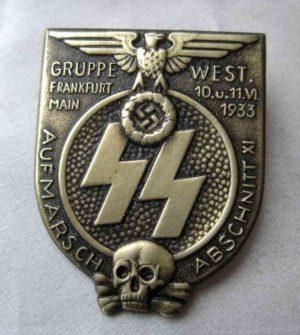 SS Aufmarsch Abschnitt XI marching Badge