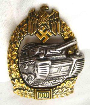 Heer Tank assualt badge 100