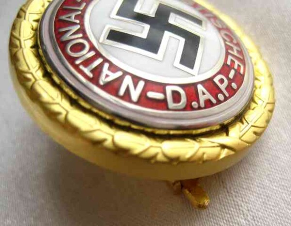 nazi golden party badge