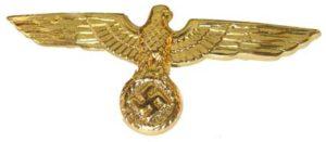 Kriegsmarine metal cap eagle
