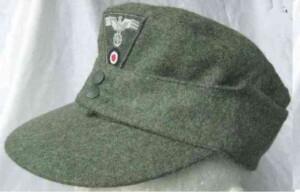 M43 Heer Ski cap with insignia, WW2 German army ski cap