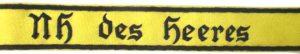 Nachrichtenhelferin des Heeres Cuff title