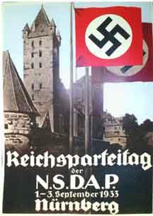 Nazi Nuremberg rally Poster