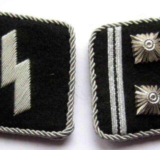 SS Obersturmbannfuhrer collar tabs