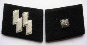 SS Unterscharfuhrer collar tabs