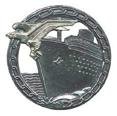 Kriegsmarine Blockade Runners Badge