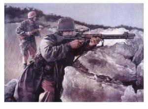 WW2 Fallschirmjager Snipers poster