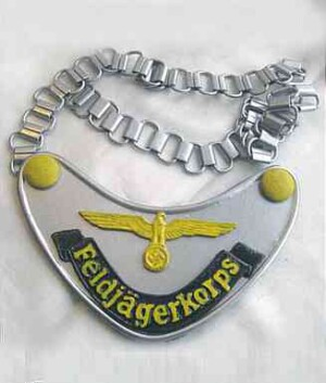 Feldgendarmerie feldjagerkorps Gorget