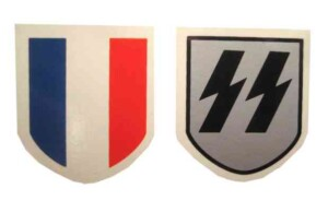 french ss helmet decals