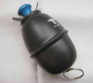 WW2 German metal egg grenade with Nazi logo