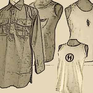 WW2 German army shirts & Vests