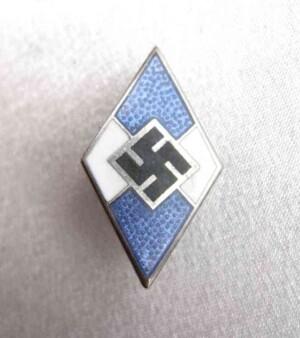 Hitler Youth pin badge. German Hitlerjugend members badge