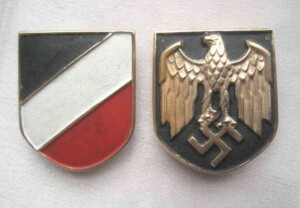 Kriegsmarine pith helmet shields