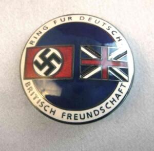 British Nazi friendship badge