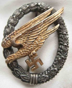 Luftwaffe Paratrooper Badge `Sonnderklasse`