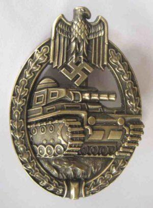 German Panzer Assault badge in bronze