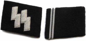 SS Sturmann Waffen SS collar tabs