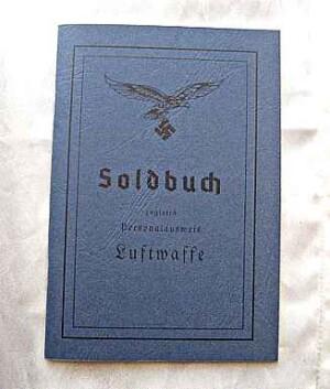 Luftwaffe Soldbuch. WW2 German