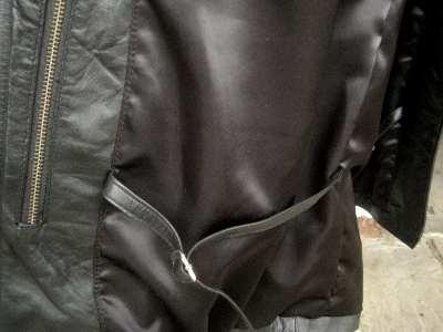 ss black leather coat