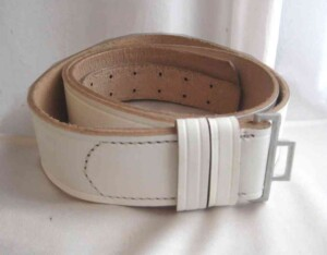 SS Enlisted Belt in white.