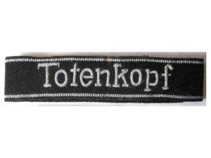 SS Totenkopf officers cuff title