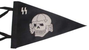 SS Totenkopf car pennant