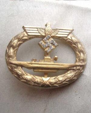U-Boat Badge with diamonds.