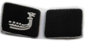 SS wiking officers collar tabs