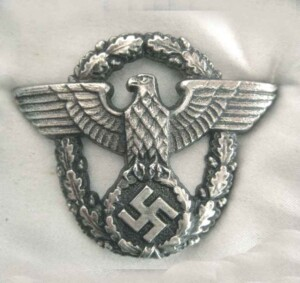ww2 german police-cap-eagle